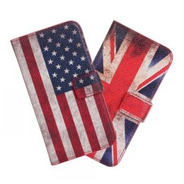 Wholesale Samsung Galaxy S5 mini Restoring ancient ways cellphone cases business wallet style Europe and the United States national flag phone cases