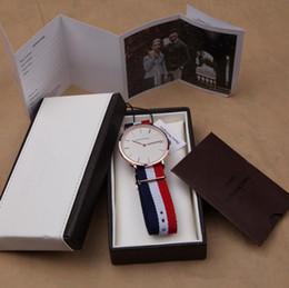 Wholesale HOT Top Brand Luxury Style D W Watches Daniel Watch For Men Women Nylon Strap Military Quartz Wristwatch colors Reloj hombre with box