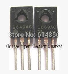 Wholesale PAIR SB649AC SD669AC TO SB649 SD669 B649 D669 PNP NPN Epitaxial Planar Transistors