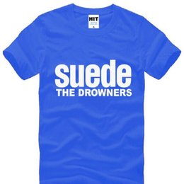 New Design SUEDE THE DROWNERS T Shirts Men Cotton Short Sleeve SUEDE Rock Band Man T-Shirt Fashion Summer Rock Roll Top Tee