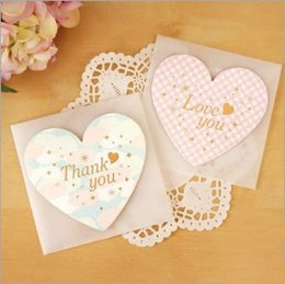 2016 Rushed Top Fashion Paper Postcard South Korea: Love Romantic Lover Small Pure And Fresh Heart-shaped Folding Card card card Paragraph 6