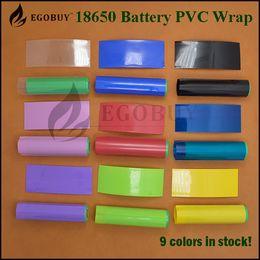 Wholesale 100pcs piel de PVC de mm envoltura del encogimiento del calor de reenvasado de baterías de Sony vtc4 vtc5 vtc6 Samsung LG r Hg2 HE4