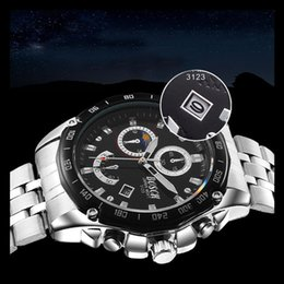 Mountaineering Running Mens Watches Three Six Pin Steel Waterproof Watch Fashion Luxury Business Man Brand Calender Sport Watch