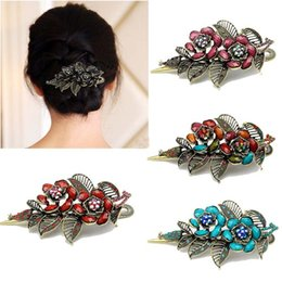 Wholesale 2015 Real Wedding Accessories Jewelry New Vintage Rose Hair Clips Elegant Women Clip Beauty Tools Jewelry Anne