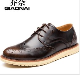 Wholesale The New Mens Casual Leather Shoe Black Leather Men s Shoes Tide England Complex Gubuluoke Brand Shoes