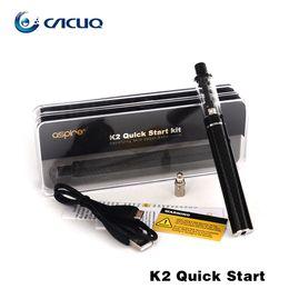 electronic cigarettes Vape pen Authentic Aspire K2 Quick starter kit with 1.8ml Vaporizer tank 800mah battery VS Joyetech Ego Aio Aspire K3