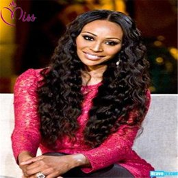 Wholesale Long Curly Heavy Wig - Heavy Density Human Hair Wig Kinky Curly Full Lace Human Hair Wig 150 Density 7A Brazilian Lace Front Wig For Black Women