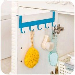 Wholesale incognito Kitchen Cabinet Cupboard Door Hanging Rack Rail Hanger Bar Holder for Towels scouring pads organizer storage hook