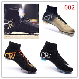 Wholesale The best quality of New Launch Soccer Cleats CR7 Special Edition Gold studs Ronaldo Soccer Shoes New CR7 Soccer Shoes