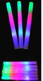 Vente en gros 100 pcs beaucoup conduit mousse bâton clignotant mousse stickLED barColorful éponge lumineux lumière bâton acclamations lueur mousse bâton EMS / DHL / FEDEX à partir de conduit mousse bâton clignotant fabricateur