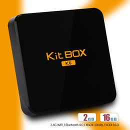 Wholesale RK3229 gb gb Unique Shape Kit K6 TV Box Quad Core Dual Antenna G WIFI Mobile Phone control Android Google Media Player