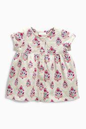 [New arrival] [Hot sale] England shopping product Next children's clothing summer new baby girls 16 bountyless beige short sleeve T-shirt