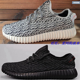 Wholesale big size36 high quality Kanye West Boost Men s Fashion Running Shoes Cheap Pirate Black Boost Sport Shoes