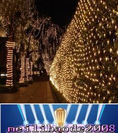 Promotion rgb led net Lampe LED 6W Net fée des lumières de Noël de poche 1.5x1.5m / 3mx2m / 6mx4m Meshwork Guirlande LED cordes légères RoHs éclairage CE MYY