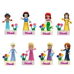 480pcs lot Snow White Princess Building Blocks Kids Diy Bricks Model Toy figures