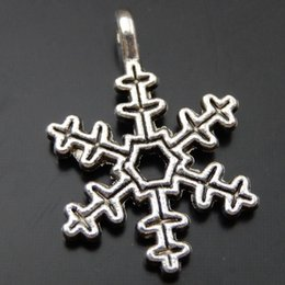 30PCS Antique Silver Alloy Snowflake Pendant Charm Jewelry Finding 14*21mm 39836 jewelry making