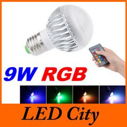 El color múltiple E27 E14 B22 GU10 llevó la luz de los bulbos RGB 9W llevó la lámpara de los proyectores para la iluminación de la Navidad / del partido + teledirigido CEUL desde focos de colores proveedores