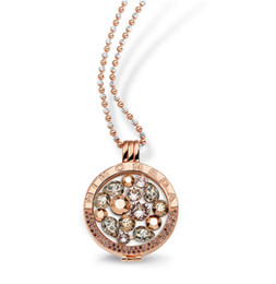 Wholesale coin holder chain complete set fashion Mi moneda locket pendant mm diy coin necklace stainless steel jewelry
