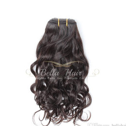 8A Mongolian natural Wave Human Hair Weaves 3pcs lot virgin hair extensions Free shipping natural color Bella hair