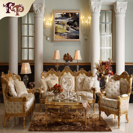 Wholesale Baroque living room sofa furniture Antique Classic sofa set European palace sofa set