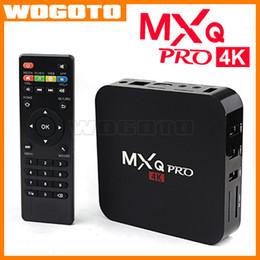 Wholesale Android MXQ TV Box Amlogic S905 Codi Quad Core Google Play Store APP Download Android TV Box GB Ram GB Flash MXQ Pro K VS M8S