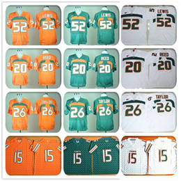 Wholesale Stitched Miami Hurricanes Football Jerseys NCAA College Ed Reed Jersey Brad Kaaya Sean Taylor Ray Lewis Jersey Sport