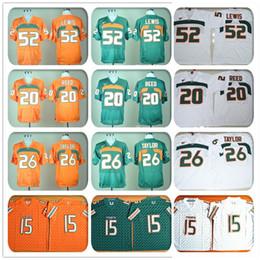 Wholesale Stitched Miami Hurricanes Football Jerseys NCAA College Ed Reed Jersey Brad Kaaya Sean Taylor Ray Lewis Jersey Sport