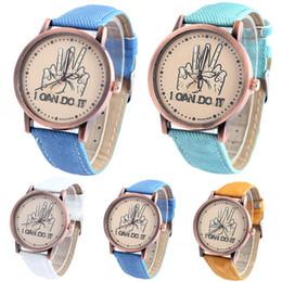 Luxury Watches for Woman Denim Belt Casual Palm Round Dial Analog Watch Quartz Lady Watch Fashion Dress Watch