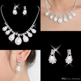 Wholesale Hot Sale Cheap New Styles Statement Necklaces Pearl Sets Bridesmaids Jewelry Lady Women s Prom Party Fashion Jewelry Earrings