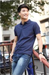 wholesale 2016 high quality Fashion men tops polos the most popular men clothes 100% cotton men Short sleeve polos
