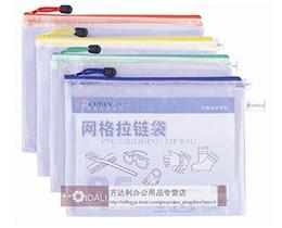 Wholesale Comix A1154 PVC and Mesh Cloth Zipper Bags A4 x240mm Nw g Color Random