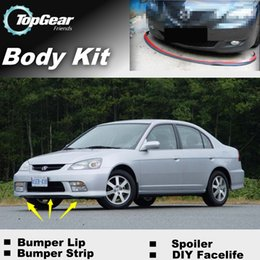 Wholesale For Acura EL Bumper Lip Lips Body Kit Tuning of Spoiler Strip For Car Tuning Bumper Lip Strip