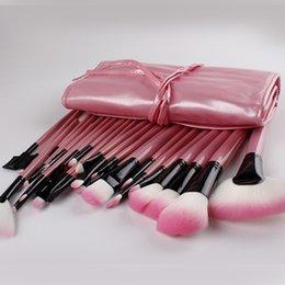 Sistemas de cepillo libres del maquillaje del precio bajo 32pcs del envío desde conjunto de maquillaje cepillo de bajo precio proveedores