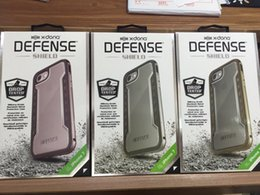 Wholesale X doria Defense Shield Military grade Machined Metal Protective Back Cover Case for iPhone plus