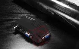 Wholesale PC Laptop Composite AV S Video BNC To VGA TV Converter Monitor Adapter Switch Box F5