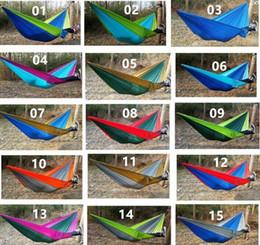 Wholesale Portable Nylon Parachute Double Person Hammock Garden Outdoor Camping Mixed Color Safe Outdoor Parachute X cm g Travel Hammock
