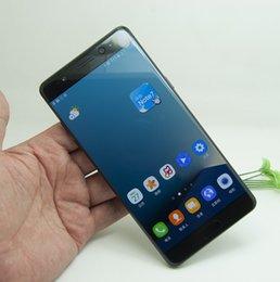 Descuento pantallas digitales Nota 7 con Edge Curved pantalla desbloqueada smartphone de la huella digital Android 6.0 doble sim 3 GB de RAM 64 GB 64Bit se muestra 4G LTE teléfonos celulares