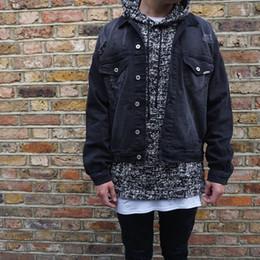 japanese streetwear hip hop stylish oversized mens coats cool jackets for men clothes black rockstar jeans denim jacket A