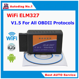 Wholesale Best Quality Mini V1 ELM327 WiFi ELM OBDII Car Diagnostic Tool OBD2 Code Reader Scanner For IOS Android PC ELM WiFi
