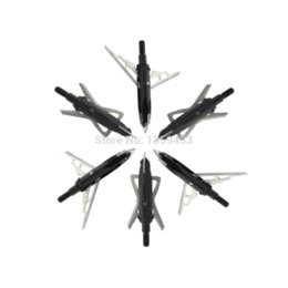 Wholesale free shiping steel force phat arrow head cm of length Butterfly shape expandable blade broadhead grain