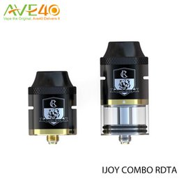 Wholesale Authentic iJoy COMBO RDTA vaporizer ml can be assembled into COMBO RDA tank with a RDA base Diameter atomizer VS smok tfv8 baby
