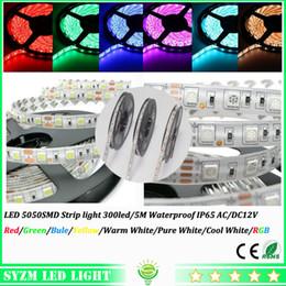 Led string light 5m set 12v led strip 5050SMD led stripe 60led m led strip warm white led light strip waterproof