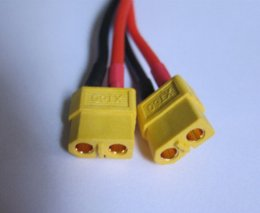 With Tracking Number XT60 2 Male Female to 1 Female Male Cable DJI Phantom Battery Expansion Extension Parts & Accessories