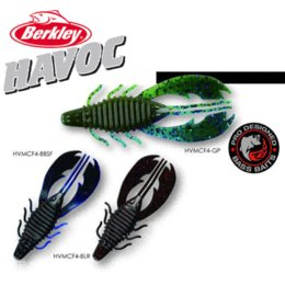 Wholesale Berkley Brand Havoc Series Craw Fatty HVMCF4 CM Shrimp Bait Soft Fishing Lure for Punching Flipping Sea Bass Fishing p bag