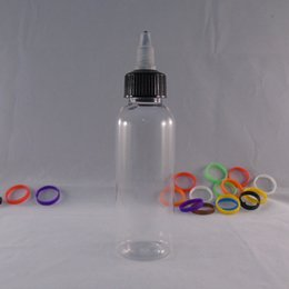 Unique 60ml Plastic-Liquid Bottle Clear Plastic Storage Containers Niddle Tip Child-Tamper Cap E Juice Drip Bottle Pen Slender Shape Open