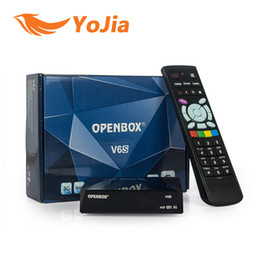 Wholesale 10pcs Original Openbox V6S Mini Digital Satellite Receiver all same as S V6 S V6 with AV HDMI WEB TV USB Wifi G CCCAMD