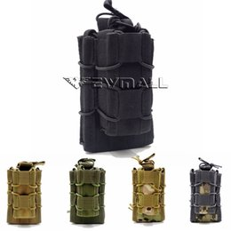 Wholesale outdoor sport hunting accessories Tactical Open Top Double molle pouch Decker Single Rifle Pistol Mag Magazine Bag
