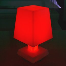 Free shipping Wholesale Rechargeable LED Glowing Desk Table Lamp Remote control led mood table lamp Adjustable LED Reading Light