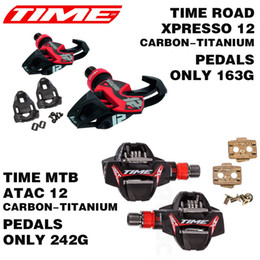 Wholesale Time Xpresso ATAC Titan Carbon Pedals Road MTB Bike Pedals Road Bicycle Parts Titanium Ti Pedal lock card bicycle shoes parts
