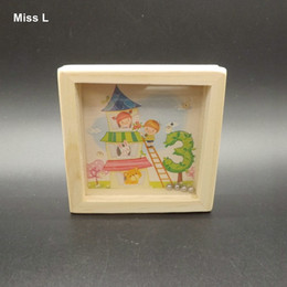 Castle Picture Wooden Toys Mini Slide Beads Maze Game Small Mini Labyrinth Toy Kids Balance Game